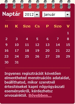 online naptár Letölthető menstruációs naptár 2014 online naptár