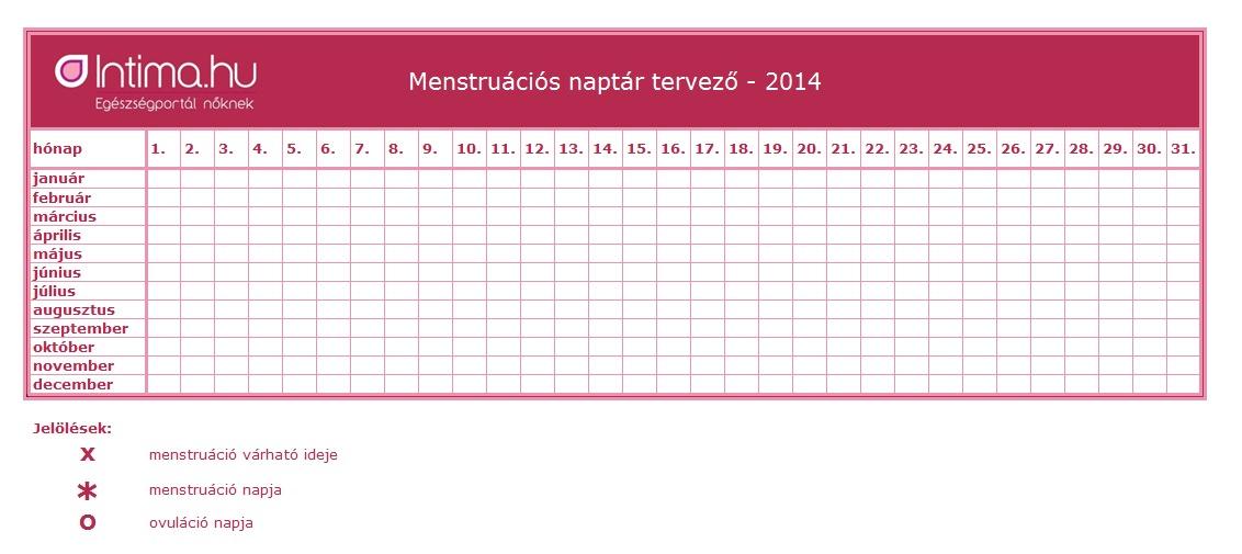 pc naptár letöltés Letölthető menstruációs naptár 2014 pc naptár letöltés